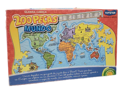 Quebra-Cabeça 200 peças - Toyster - Mapa do Mundo
