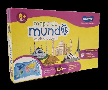 Quebra-Cabeça 200 peças - Toyster - Mundo