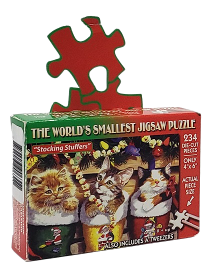 Quebra-Cabeça 234 peças - TDC - Stocking Stuffers, World Smallest Puzzle