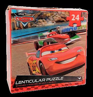 Quebra-Cabeça 24 peças - Cardinal Games - Disney Cars, Lenticular