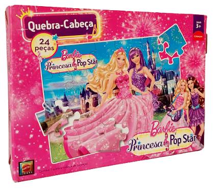 Quebra-Cabeça 24 peças - Mattel - Barbie, Princess Pop Star