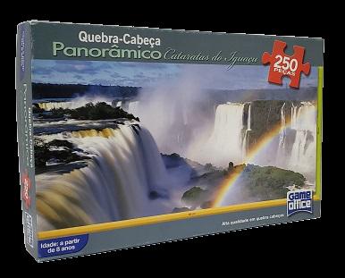 Quebra-Cabeça 250 peças - Game Office - Cataratas do Iguaçu - Panoramico