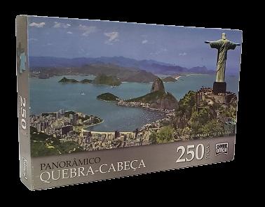 Quebra-Cabeça 250 peças - Game Office - Rio de Janeiro- Panoramico