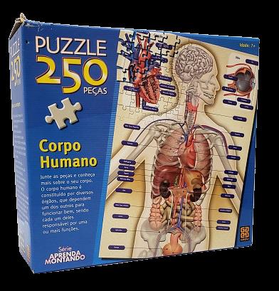 Quebra-Cabeça 250 peças - Grow - Corpo Humano