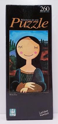 Quebra-Cabeça 260 peças - Nig - Mona Lisa, Luciano Martins