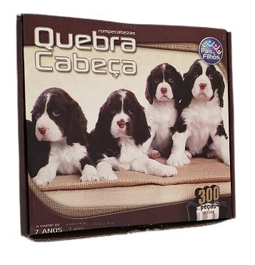 Quebra-Cabeça 300 peças - Pais & Filhos - Cachorros