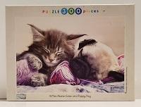 Quebra-Cabeça 300 peças - Tomax - Kitten Maine Coon And Puppy Pug