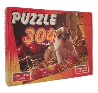 Quebra-Cabeça 304 peças - Uriarte - Cachorro e Cerejas