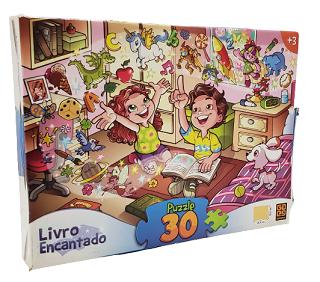 Quebra-Cabeça 30 peças - Grow - Livro Encantado