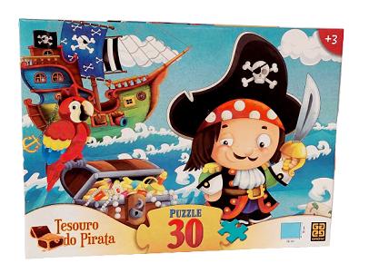Quebra-Cabeça 30 peças - Grow - Tesouro do Pirata