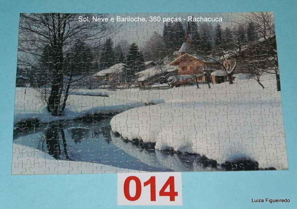Quebra-Cabeça 360 peças - Rachacuca - Sol, Neve, Bariloche