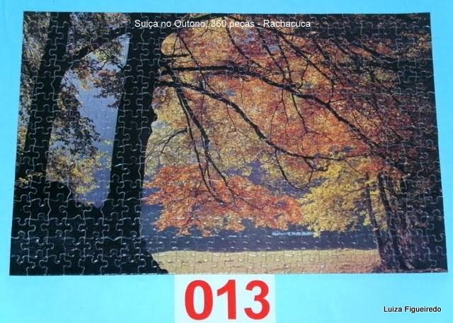 Quebra-Cabeça 360 peças - Rachacuca - Suiça no Outono
