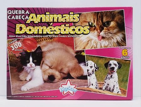 Quebra-Cabeça 3 x 100 peças - Big Star - Animais Domesticos