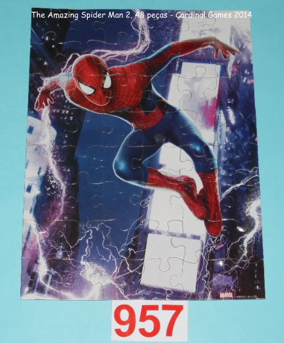 Quebra-Cabeça 48 peças - Cardinal Games - The Amazing Spider-Man embalagem Saco