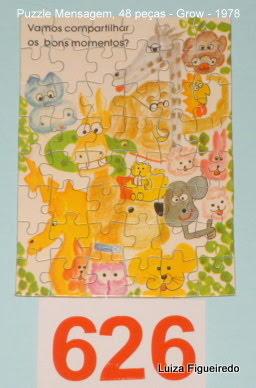 Quebra-Cabeça 48 peças - Grow, Puzzle Mensagem - Bichos
