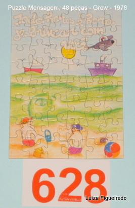 Quebra-Cabeça 48 peças - Grow, Puzzle Mensagem - Brincar