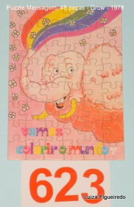 Quebra-Cabeça 48 peças - Grow, Puzzle Mensagem - Colorir