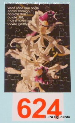 Quebra-Cabeça 48 peças - Grow, Puzzle Mensagem - Orquidea