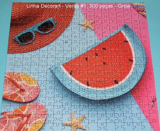 Quebra-Cabeça 4 x 300 peças - Grow - Linha Decorat, Verão
