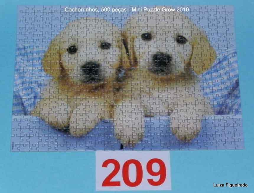 Quebra-Cabeça 500 Mini Peças - Grow - Cachorrinhos