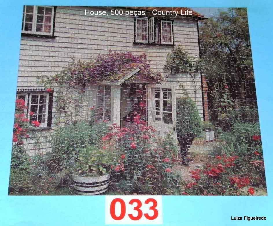 Quebra-Cabeça 500 peças - Arrow Games - Country Life - House sem caixa original