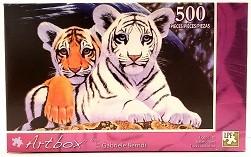 Quebra-Cabeça 500 peças - Art Box - Tiger Cubs