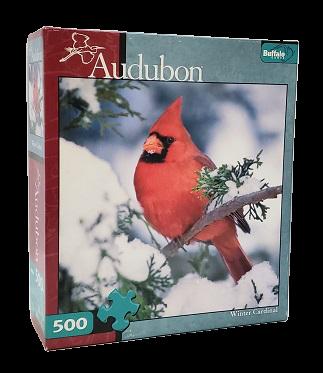 Quebra-Cabeça 500 peças - Buffalo - Winter Cardinal