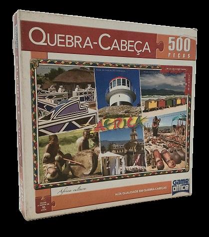 Quebra-Cabeça 500 peças - Game Office - Africa Cultura