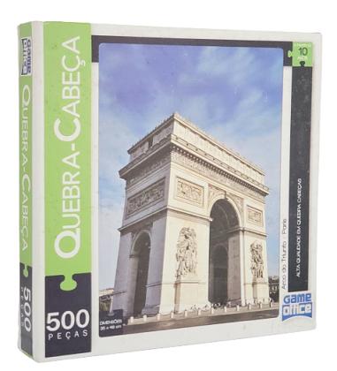Quebra-Cabeça 500 peças - Game Office - Arco do Triunfo, Paris