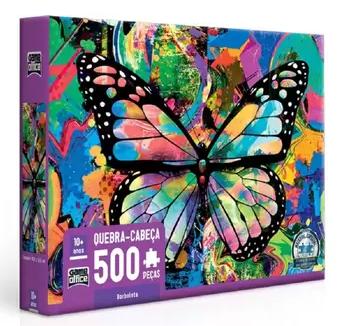NOVO - Quebra-Cabeça 500 peças - Game Office - Borboleta