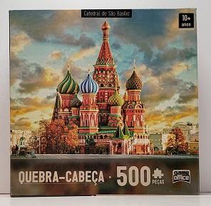 Quebra-Cabeça 500 peças - Game Office - Catedral de São Basilico