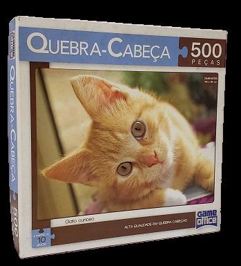 Quebra-Cabeça 500 peças - Game Office, Gato Curioso