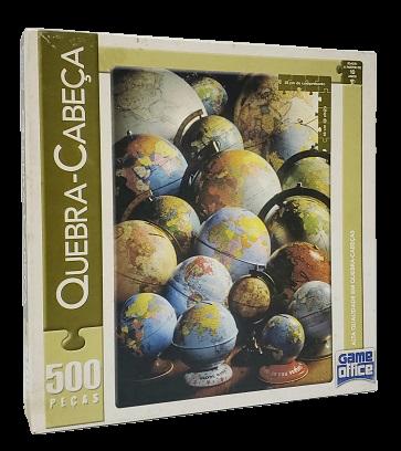 Quebra-Cabeça 500 peças - Game Office, Globo Terrestre