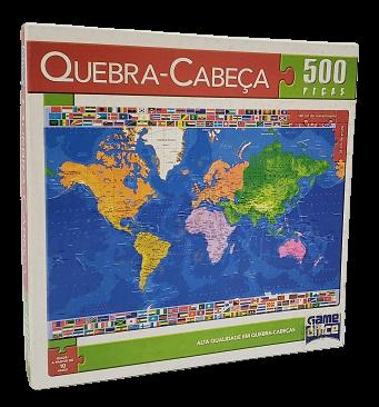 Quebra-Cabeça 500 peças - Game Office, Mundo