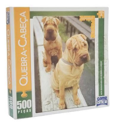 Quebra-Cabeça 500 peças - Game Office Shar Pei