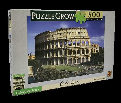 Quebra-Cabeça 500 peças - Grow - Coliseu de Roma