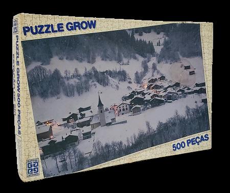 Quebra-Cabeça 500 peças - Grow - Estação de Esqui