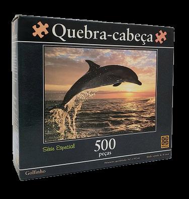 Quebra-Cabeça 500 peças - Grow - Golfinho, Série Especial