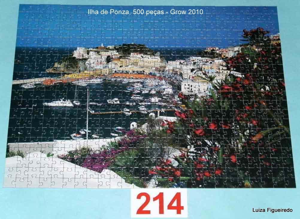Quebra-Cabeça 500 peças - Grow - Ilha de Ponza