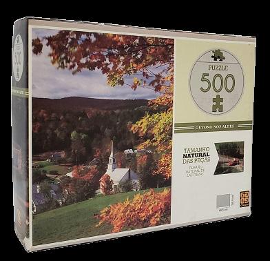 Quebra-Cabeça 500 peças - Grow - Outono nos Alpes