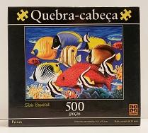 Quebra--Cabeça 500 peças - Grow - Peixes, Série Especial