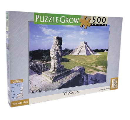 Quebra-Cabeça 500 peças - Grow - Pirâmide Maia