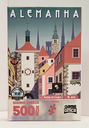 Quebra-Cabeça 500 peças Nano - Game Office - Postais da Europa, Alemanha