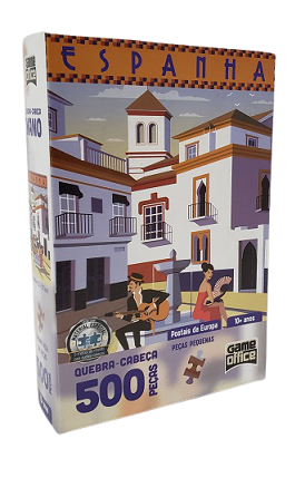 Quebra-Cabeça 500 peças Nano - Game Office - Postais da Europa, Espanha