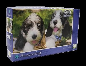 Quebra-Cabeça 500 peças - PuzzleBug - Puppy Basket