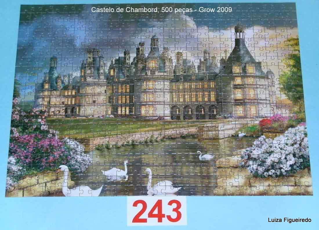 Quebra-Cabeça 500 peças - Série Especial - Castelo de Chambord