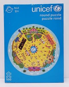 Quebra-Cabeça 500 peças - Unicef - Round Puzzle (redondo)