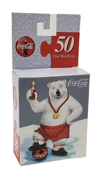 Quebra-Cabeça 50 peças - Coca-Cola Company, Soccer Bear