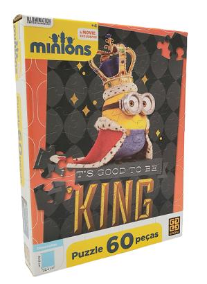 Quebra-Cabeça 60 peças - Grow - Minions It's Good to be King
