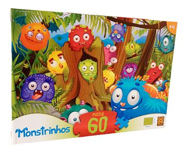 Quebra-Cabeça 60 peças - Grow - Monstrinhos